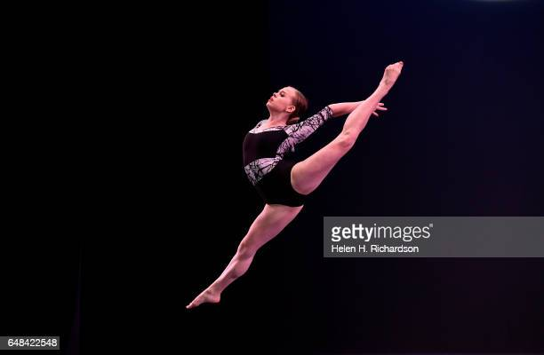 Madelyn Allen performs Noise Conquered during the 2017 during the Youth America Grand Prix ballet scholarship competition in the June Swaner Gates...