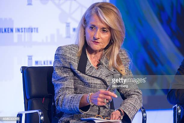 Madelyn Antoncic vice president and treasurer of the World Bank Group speaks during the Milken Institute London summit in London UK on Tuesday Oct 28...