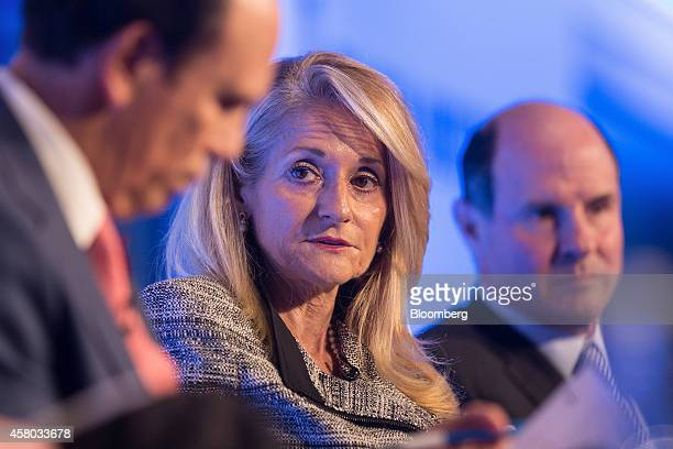 Madelyn Antoncic vice president and treasurer of the World Bank Group center speaks during the Milken Institute London summit in London UK on Tuesday...