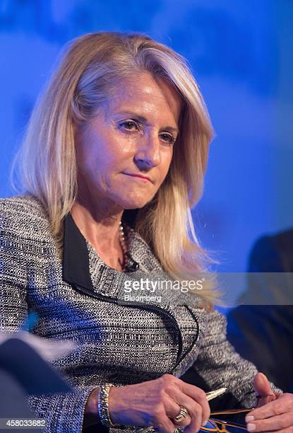 Madelyn Antoncic vice president and treasurer of the World Bank Group pauses during the Milken Institute London summit in London UK on Tuesday Oct 28...