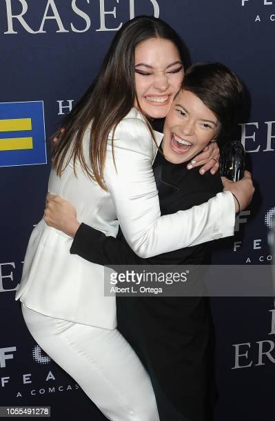Madelyn Cline and Elizabeth Hinkler arrive for the Premiere of Focus Features' Boy Erased held at Directors Guild Of America on October 29 2018 in...