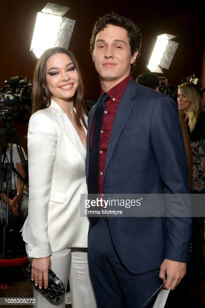 "Madelyn Cline and Josh Scherer attend the premiere of Focus Features' ""Boy Erased"" at Directors Guild Of America on October 29, 2018 in Los Angeles,..."