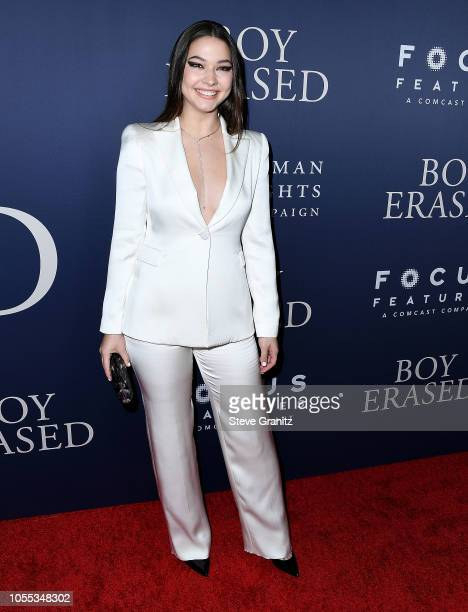 Madelyn Cline arrives at the Premiere Of Focus Features' Boy Erased at Directors Guild Of America on October 29 2018 in Los Angeles California