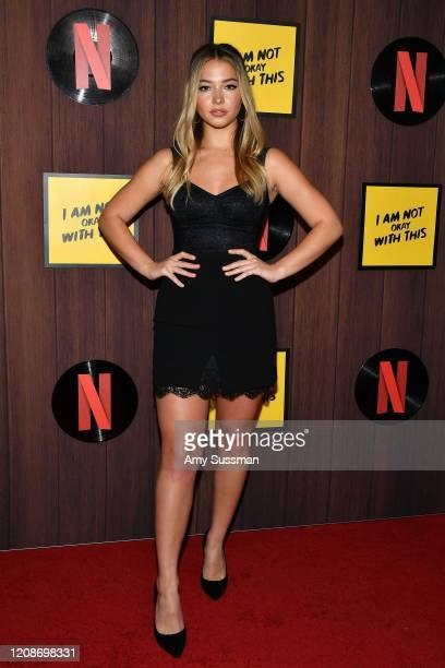 "Madelyn Cline attends Netflix's ""I Am Not Okay With This"" Photocall at The London West Hollywood on February 25, 2020 in West Hollywood, California."