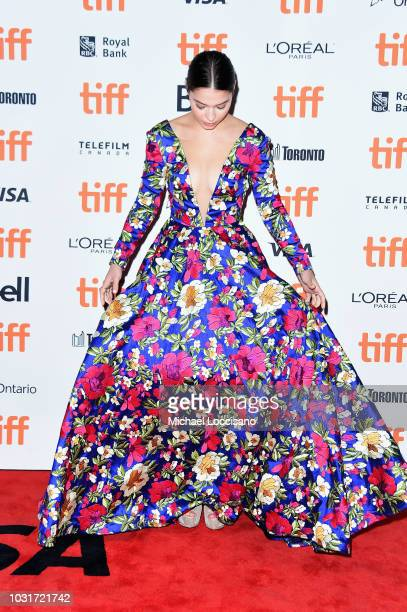 "Madelyn Cline attends the ""Boy Erased"" premiere during 2018 Toronto International Film Festival at Princess of Wales Theatre on September 11, 2018 in..."