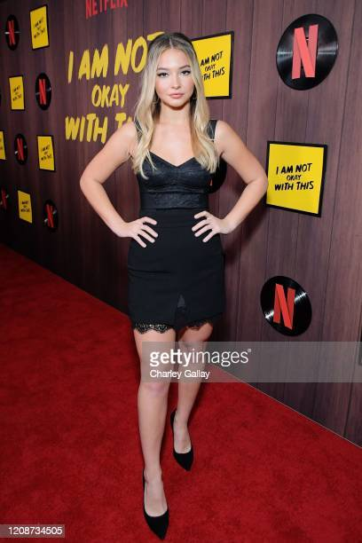 "Madelyn Cline attends the premiere of Netflix's ""I Am Not Okay With This"" at The London West Hollywood on February 25, 2020 in West Hollywood,..."