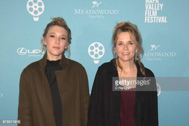 Madelyn Deutch and Lea Thompson attend the Festival Gala at CIA at Copia during ithe 7th Annual Napa Valley Film Festival on November 11 2017 in Napa...