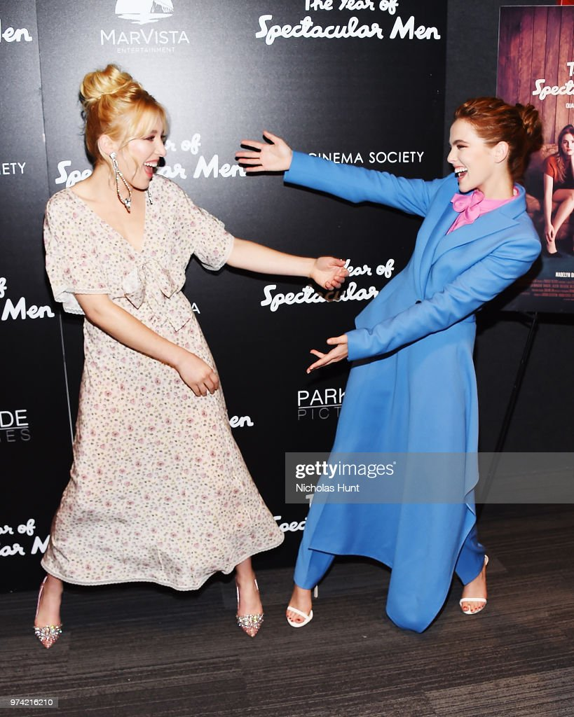Madelyn Deutch and Zoey Deutch attend 'The Year Of Spectacular Men' New York Premiere at The Landmark at 57 West on June 13, 2018 in New York City.