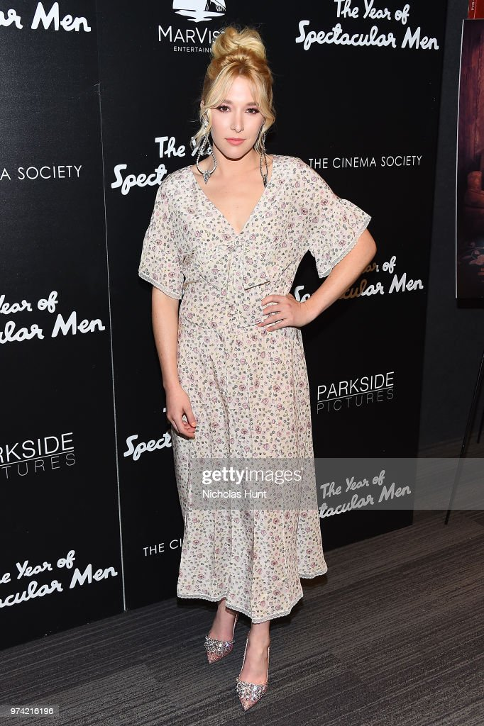 Madelyn Deutch attends 'The Year Of Spectacular Men' New York Premiere at The Landmark at 57 West on June 13, 2018 in New York City.
