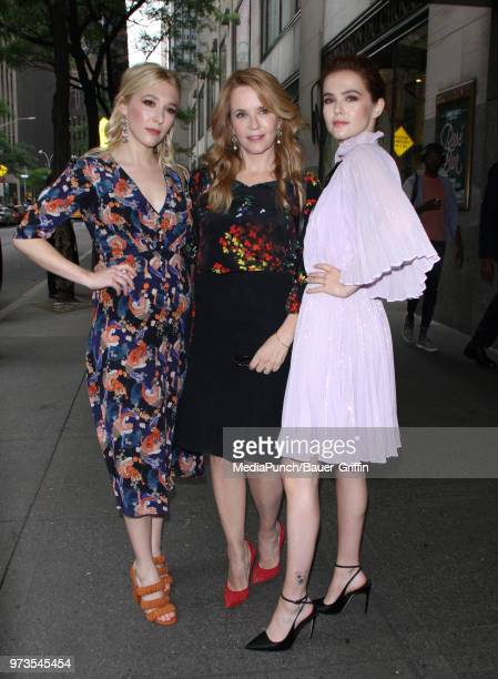 Madelyn Deutch Lea Thompson and Zoey Deutch are seen on June 13 2018 in New York City