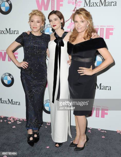 Madelyn Deutch sister Zoey Deutch and mom Lea Thompson arrive at the Women In Film 2017 Crystal Lucy Awards Presented By Max Mara And BMW at The...