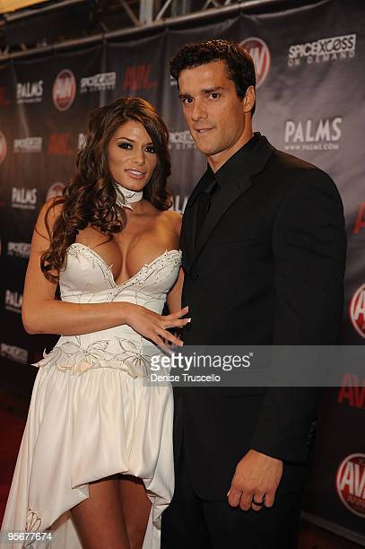Madelyn Marie and Ramon arrives at the 2010 AVN Awards at the Pearl at The Palms Casino Resort on January 9 2010 in Las Vegas Nevada