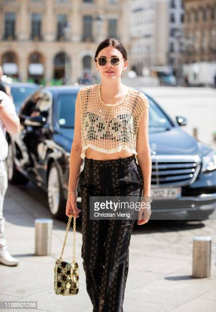 Madelynn Furlong is seen outside Dundas during Paris Fashion Week Haute Couture Fall/Winter 2019/2020 on July 01 2019 in Paris France