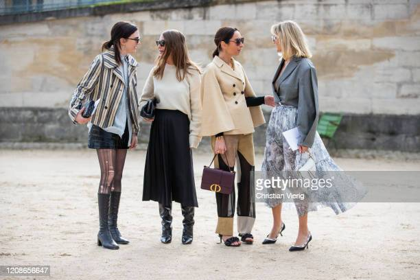 Madelynn Furlong, Sophia Roe, Geraldine Boublil and Anne Laure Mais is seen outside Dior during Paris Fashion Week - Womenswear Fall/Winter 2020/2021...