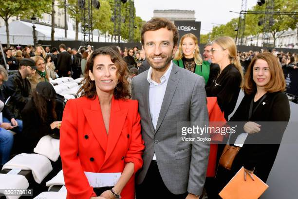 Mademoiselle Agnes and PierreEmanuel Angeloglou attend Le Defile L'Oreal Paris as part of Paris Fashion Week Womenswear Spring/Summer 2018 at Avenue...