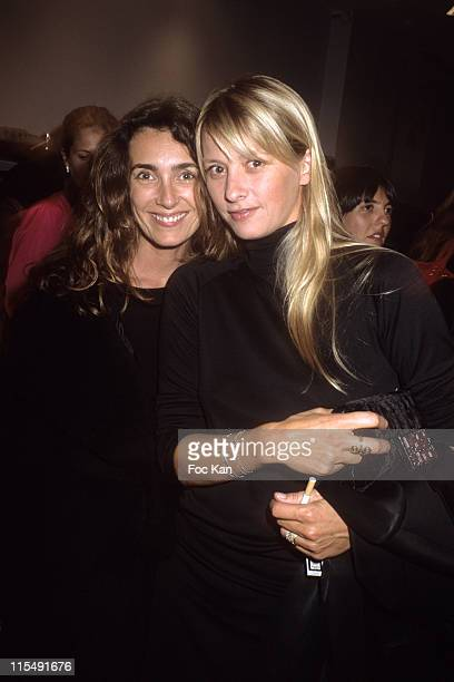 Mademoiselle Agnes and Sarah Lavoine attend Maje Paris St Sulpice Shop Opening Party on October 152007 In Paris France