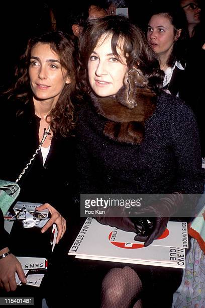 Mademoiselle Agnes and Valerie Lemercier during Paris Fashion Week Ready to Wear Autumn Winter 20042005 Chanel at Front Row Carrousel du Louvre in...