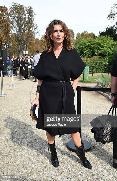 Mademoiselle Agnes arrives at Gianbattista Valli during Paris Fashion Week Womenswear SS 2015 on September 29 2014 in Paris France