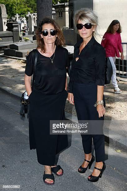 Mademoiselle Agnes Boulard and journalist AnneFlorence Schmitt attend the Designer Sonia Rykiel's Funerals at Cimetiere du Montparnasse on September...