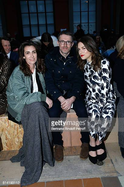 Mademoiselle Agnes Boulard Loic Prigent and Actress Morgane Polanski attend the Sonia Rykiel show as part of the Paris Fashion Week Womenswear...