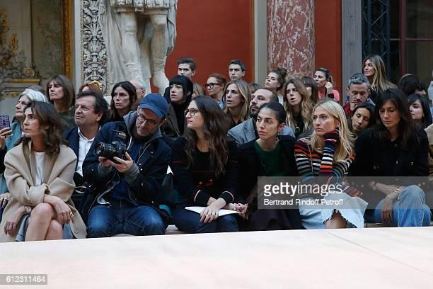 Mademoiselle Agnes Boulard, Loic Prigent, Granddaughters of Sonia Rykiel ; Salome Burstein, Tatiana Burstein and Lola Burstein, Emmanuelle Alt and...