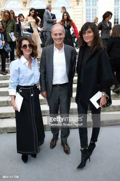 Mademoiselle Agnes Boulard Xavier Romatet and Emmanuelle Alt attend the Christian Dior show as part of the Paris Fashion Week Womenswear...