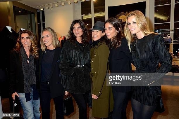 Mademoiselle Agnes Vogue fashion assistant Celia Azoulay Emmanuelle Alt a guest Vogue France Fashion and Market editor Capucine Safyurtlu and...