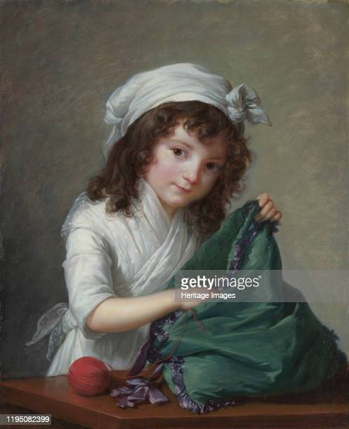 Mademoiselle Alexandrine-Emilie Brongniart, 1788. Found in the Collection of National Gallery, London. Artist Vigée Le Brun, Louise Élisabeth .