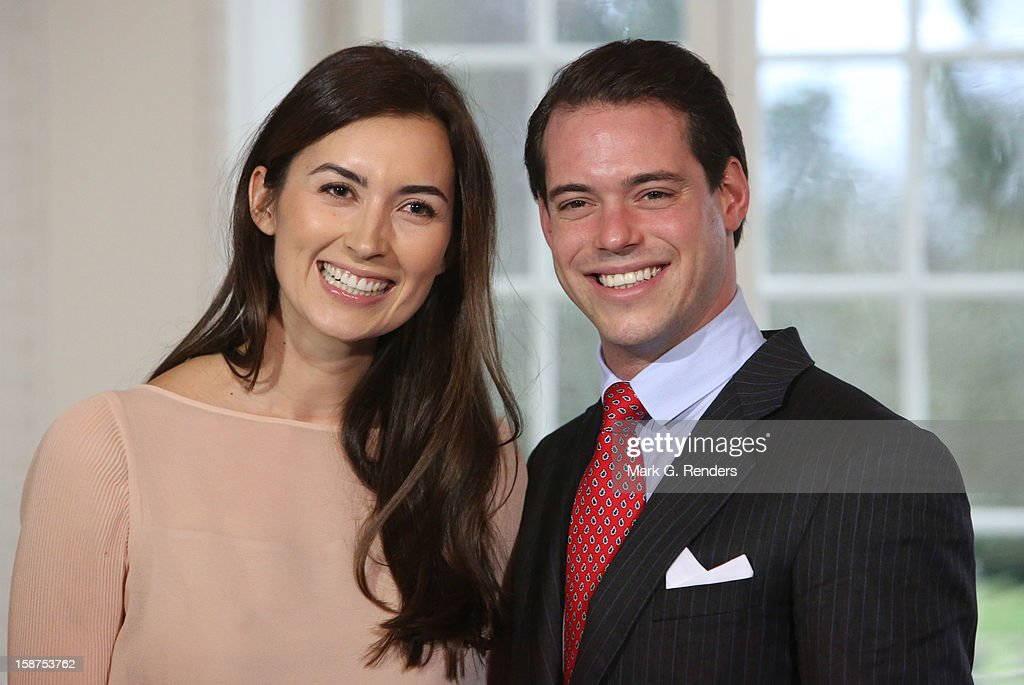 Mademoiselle Claire Lademacher and SAR The Prince Felix of Luxembourg attend a Portrait Session at Chateau De Berg on December 27, 2012 in Luxembourg, Luxembourg.