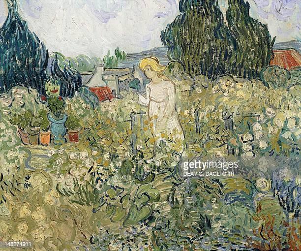 Mademoiselle Gachet in the Garden of AuverssurOise by Vincent van Gogh watercolour 11x14 cm Paris Musée D'Orsay