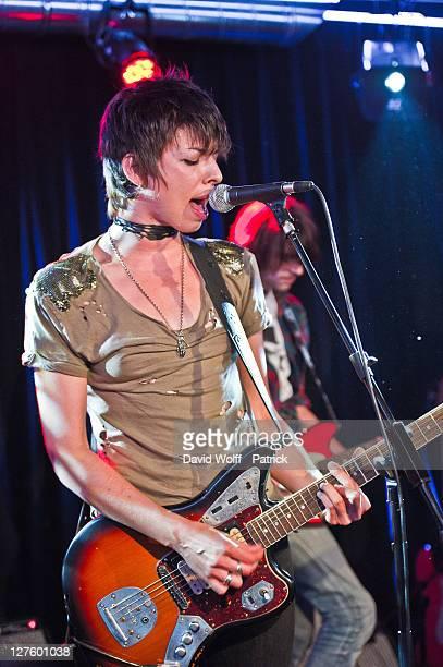 Mademoiselle K performs at Fender Jaguar Kurt Cobain Guitar launch on September 29 2011 in Paris France