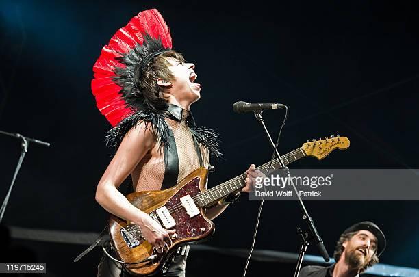 Mademoiselle K performs at Festival Fnac Live at Parvis De L'Hotel de Ville on July 23 2011 in Paris France