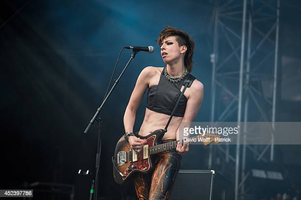 Mademoiselle K performs at Fnac Live Festival on July 19 2014 in Paris France