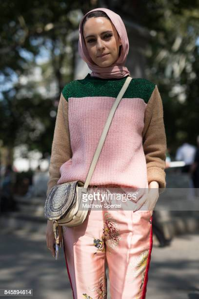 Mademoiselle Meme is seen attending Lela Rose during New York Fashion Week wearing Chloe Scotch and Soda on September 11 2017 in New York City