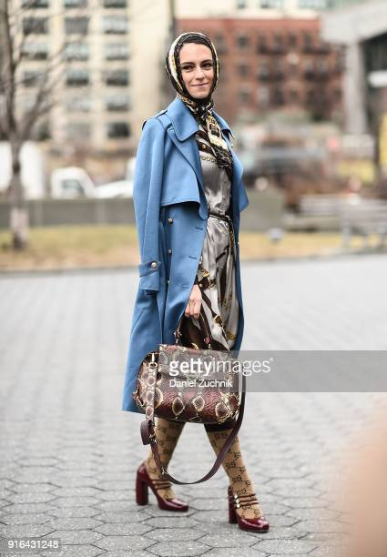Mademoiselle Meme is seen outside the Jason Wu show during New York Fashion Week Women's A/W 2018 on February 9 2018 in New York City