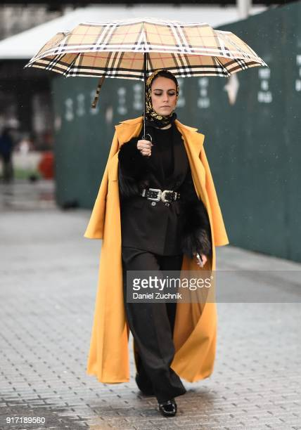 Mademoiselle Meme is seen outside the Tibi show during New York Fashion Week Women's A/W 2018 on February 11 2018 in New York City