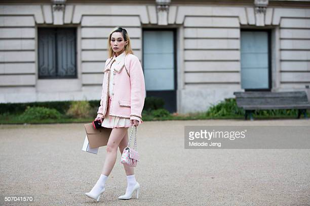 Mademoiselle Yulia at the Chanel couture show at Grand Palais on January 26 2016 in Paris France