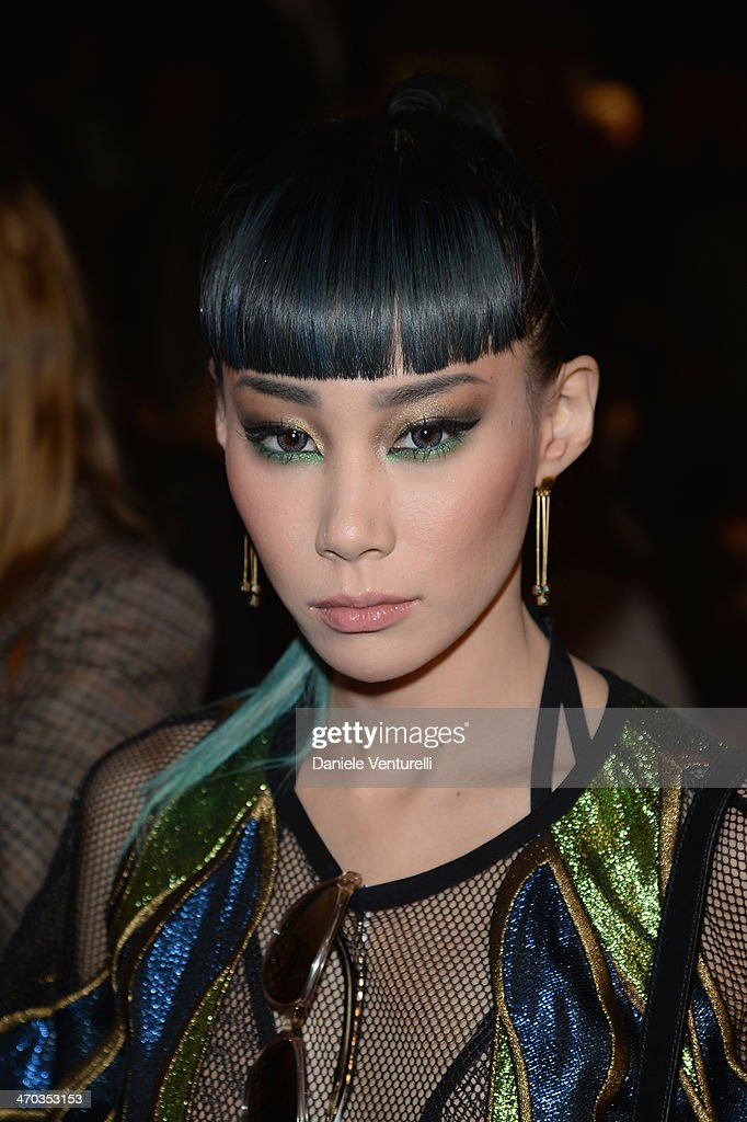 Mademoiselle Yulia attends the Gucci show as part of Milan Fashion Week Womenswear Autumn/Winter 2014 on February 19, 2014 in Milan, Italy.
