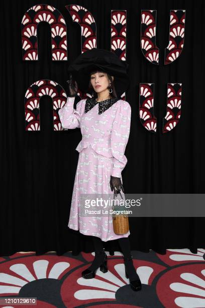 Mademoiselle Yulia attends the Miu Miu show as part of the Paris Fashion Week Womenswear Fall/Winter 2020/2021 on March 03 2020 in Paris France