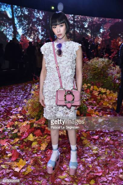 Mademoiselle Yulia attends the Moncler Gamme Rouge show as part of the Paris Fashion Week Womenswear Fall/Winter 2017/2018 on March 7 2017 in Paris...