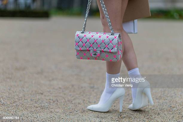 Mademoiselle Yulia outside Chanel during the Paris Fashion Week Haute Couture Spring/Summer 2016 on January 26 2016 in Paris France