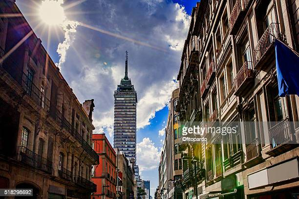 Madero Street and Latino Americana tower in the back