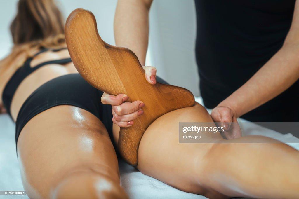 Madero Therapy Anti Cellulite Massage : Stock Photo