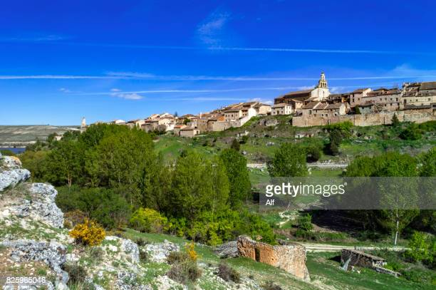 maderuelo and the swamp of linares, segovia, spain - segovia stock photos and pictures