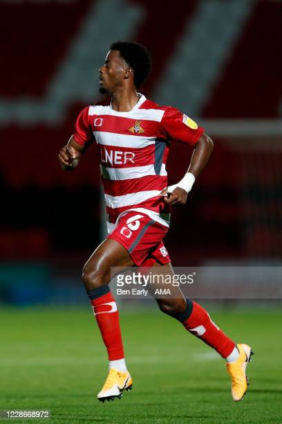 Madger Gomes of Doncaster Rovers during the EFL Trophy match between Doncaster Rovers v Bradford City at Keepmoat Stadium on September 8 2020 in...