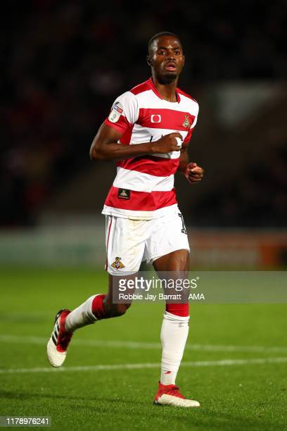 Madger Gomes of Doncaster Rovers during the Leasingcom Trophy match fixture between Doncaster Rovers and Manchester United U21's at Keepmoat Stadium...