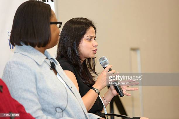 Madhavi Bhasin speaks onstage at the 'Think Differently Feeling Confident About Taking the Lesser Known Path' event during the'Texas Conference For...