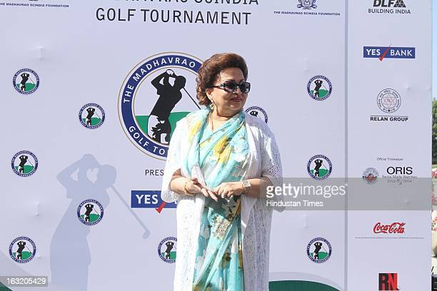 Madhavi Raje Scindia during Madhavrao Scindia Golf Tournament 2013 at DLF Country Club on March 3 2013 in Gurgaon India