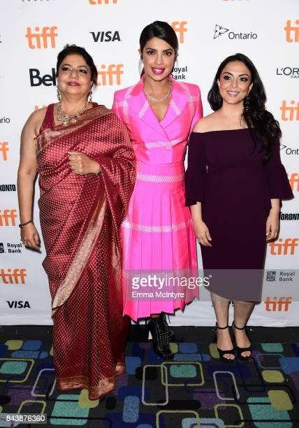 Madhu Chopra Priyanka Chopra and Pakhi Tyrewala attend the 'Pahuna The Little Visitors' premiere during the 2017 Toronto International Film Festival...