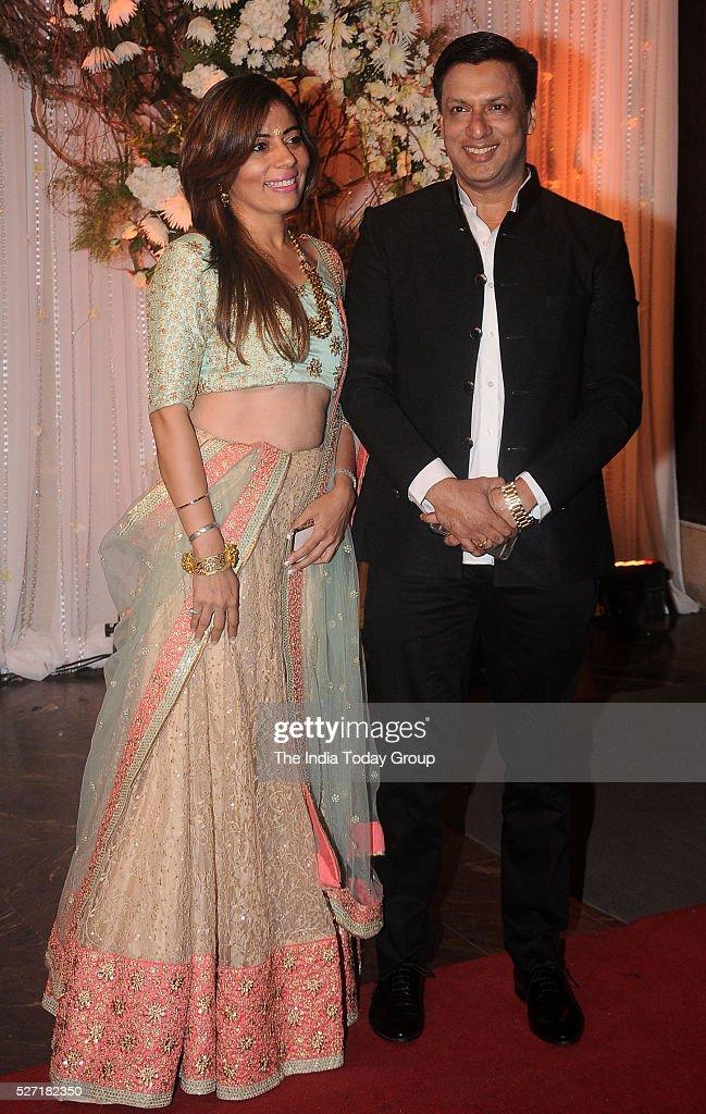 Madhur Bhandarkar at Bipasha Basu and Karan Singh Grovers wedding reception ceremony at St Regis Hotel in Mumbai